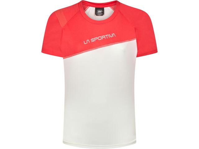 La Sportiva Catch Camiseta Mujer, blanco/rojo